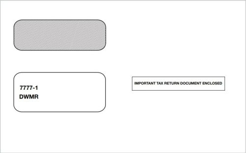 1099 Envelope 2up with Moisture Seal Gum Flap for 1099 Forms - DiscountTaxForms.com