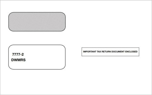 1099 Envelope 2up with Self-Seal Flap for 1099MISC and 2up 1099 Forms - DiscountTaxForms.com