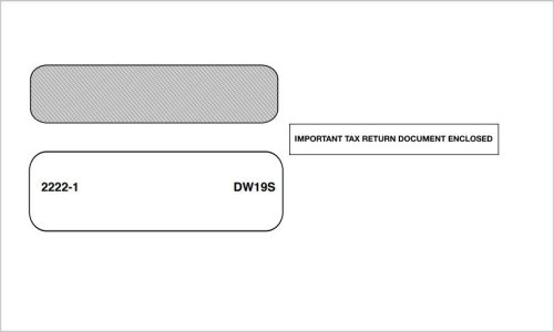 1099 Envelopes for 3up 1099NEC, 1099, 1098 and 5498 tax forms - DiscountTaxForms.com