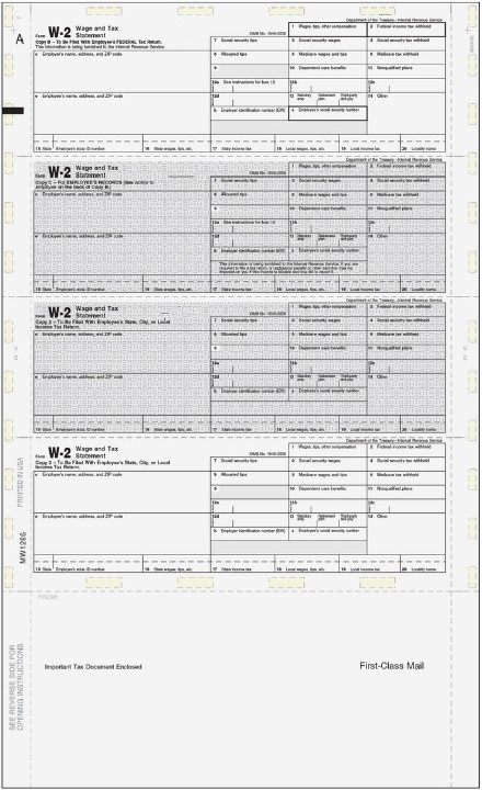 W2 Pressure Seal Forms - Discount Tax Forms