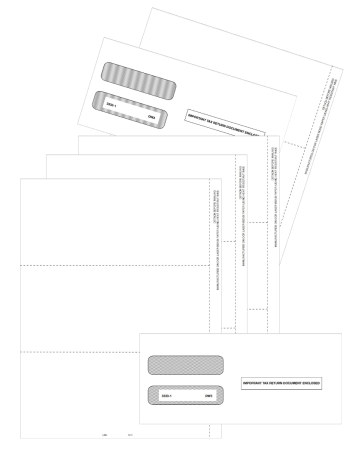 Blank Perforated W2 Forms 3up with W-2 Envelopes - DiscountTaxForms.com