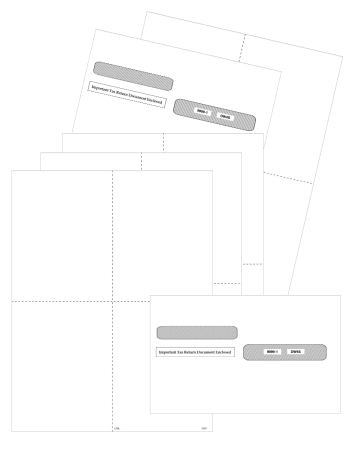 Blank W2 Form Paper 4up with Envelopes - DiscountTaxForms.com