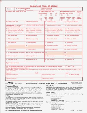 W3 Correction Form W3C - DiscountTaxForms.com