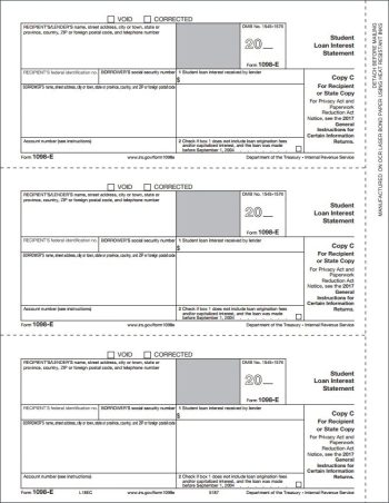 1098E Forms, Copy C for recipient - DisountTaxForms.com