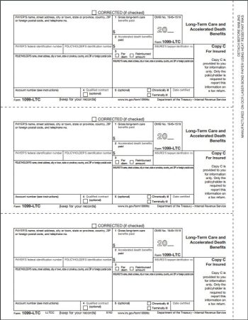1099LTC Forms, Copy C - DiscountTaxForms.com