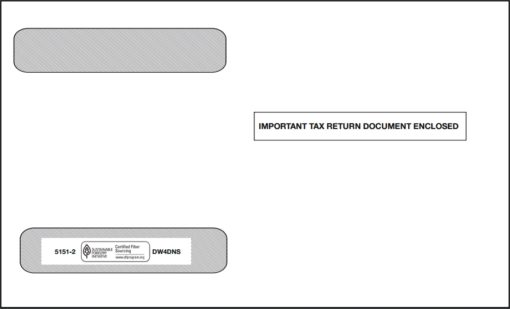 W2 Envelope for 4up W2 Forms in a horizontal layout - Discount Tax Forms