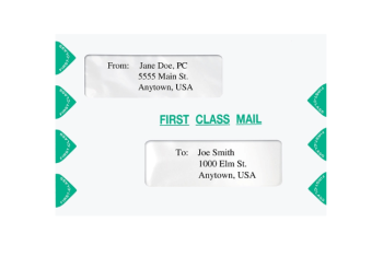 First Class Mail Envelope with 2 Windows, 6x9 size. Compatible with Proseries and TaxWise ENV300 PEC03 PECS3 - Discount Tax Forms