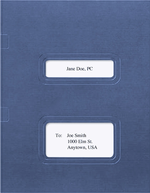 Drake and TaxWorks Software Folder with Windows for Cover Sheets and Side Staple Tabs in Blue - DiscountTaxForms.com