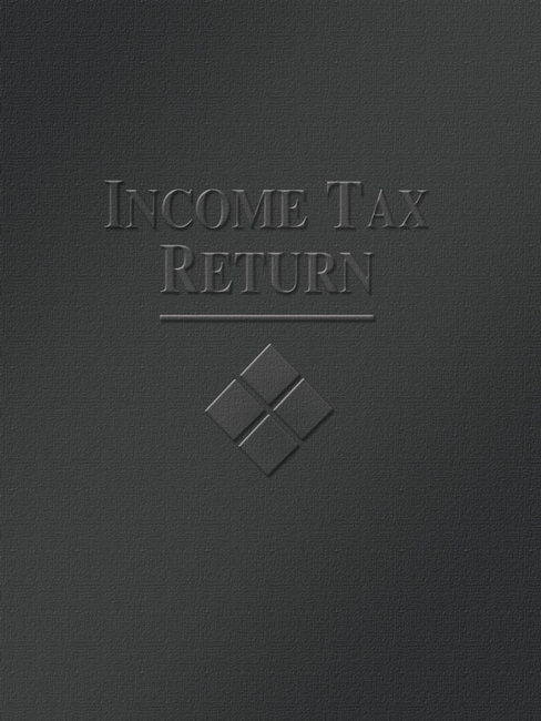 Tax Folder Embossed with Income Tax Return and Design for Accountants and CPAs, Black FBK05 - Discount Tax Forms