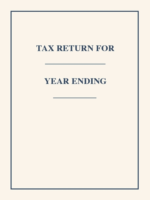 Tax Return Folders with Space to Write Client Name and Tax Year #FC07P3 - Discount Tax Forms
