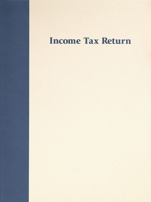 Income Tax Return Folder in our most popular Prestigious design. Free imprinting of CPA and accountant names. Blue FFB19P3 - Discount Tax Forms