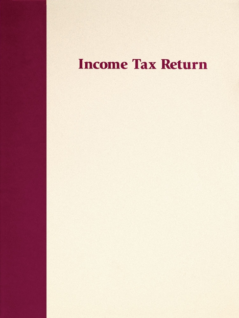 Tax Return Folder in our most popular Prestigious design. Free imprinting of CPA and accountant names. lLue FFBU29P3 - Discount Tax Forms