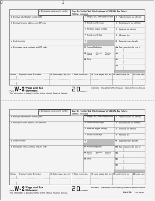 copy of w2 form  W14 Forms - Copy B, Employee Federal