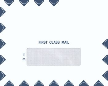 Single Window Landscape First Class Envelope for easy mailing of tax returns or important documents PEM39 - Discount Tax Forms