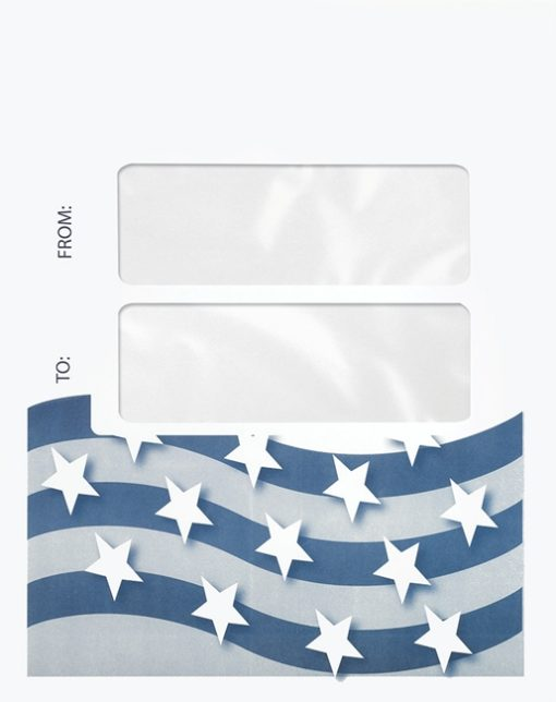 Stars and Stripes Tax Envelope with 2 Windows to display mailing address from a cover sheet PEN40 - Discount Tax Forms