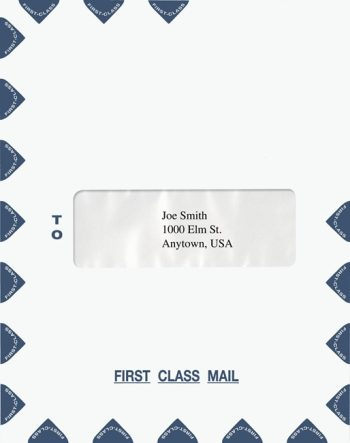 First Class Envelope Center Single Window PEP42 PEL38 - Discount Tax Forms