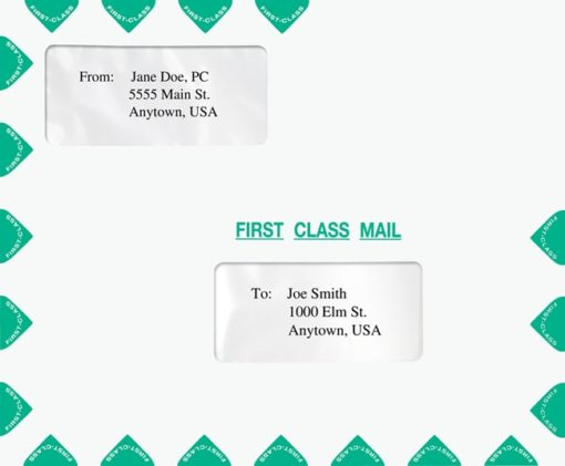 First Class Mail Envelope Landscape format with 2 windows 9.5 x 11.5. Also compatible with TaxWise software. PER18 - Discount Tax Forms