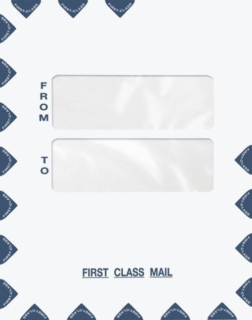 Large First Class Envelope Double Windows in the Center for address cover sheets PES45 PEO41 - Discount Tax Forms