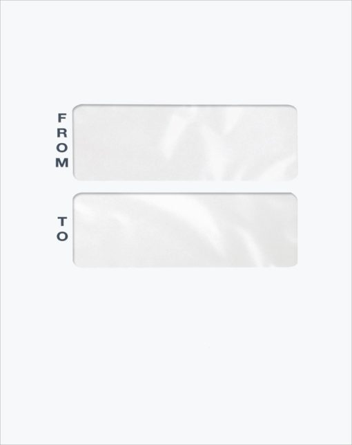 Blank Large Mailing Envelope with Double Windows PET46 - Discount Tax Forms