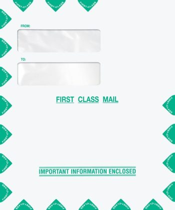 First Class Mail Envelope 9x12 with Top Double Window PEU21 PEL12 - Discount Tax Forms