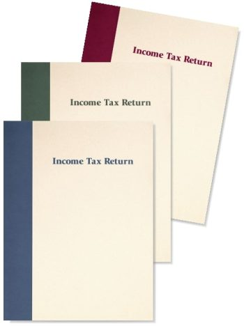 Prestigious Tax Return Folders for Income Tax Return Presentation - DiscountTaxForms.com