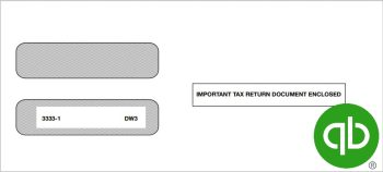 QuickBooks W2 Envelopes for 3up W2 Forms, 100% Compatible with Intuit QuickBooks at Discount Prices - DiscountTaxForms.com