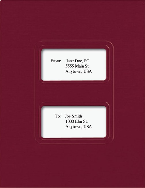 Lacerte and ProSeries Tax Folders with Windows, Burgundy - DiscountTaxForms.com