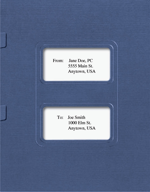 Lacerte Tax Folders with Windows and Side Staple Tabs - Discount Tax Forms