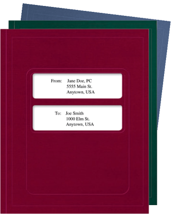 Tax Software Folders with Center Windows, Compatible with ATX and UltraTax - DiscountTaxForms.com
