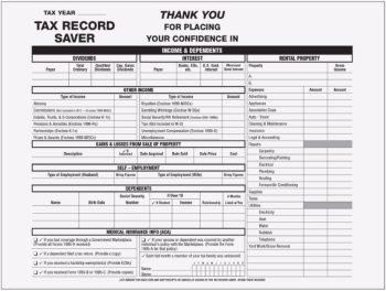 Tax Record Saver Envelope at Deep Discounts TRSENV - DiscountTaxForms.com