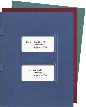 Window Tax Return Folders with Side Staple Tabs, Compatible with Lacerte and ProSeries Tax Software - DiscountTaxForms.com