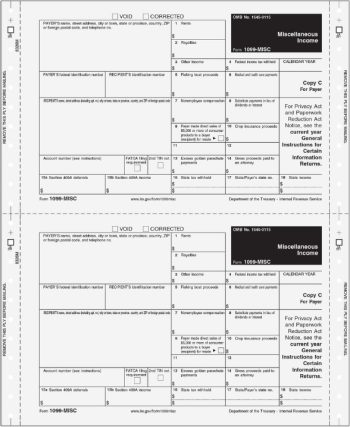 1099MISC Forms Carbonless Continuous 3part Mag Media Self Mailer - DiscountTaxForms.com