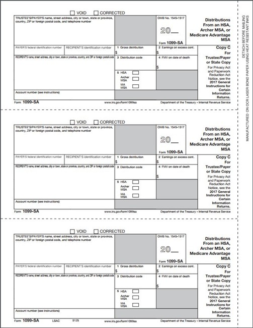 1099-sa form  13-SA Form - Copy C Payer/State