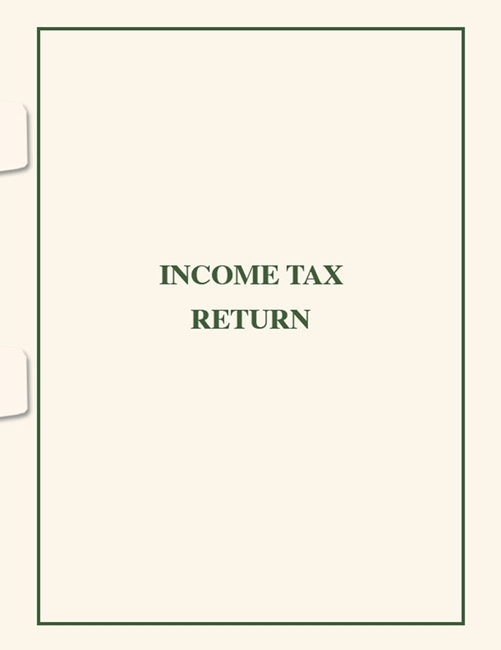 Income Tax Return Folder with Side Staple Tabs SFS03 - Discount Tax Forms
