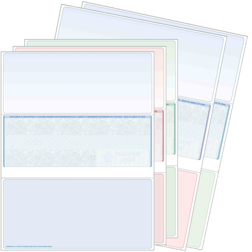Blank check stock, bottom checks. High security check stock at affordable prices - Discount Tax Forms