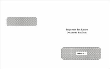 W2 1099 Envelope for Universal forms printed with ATX Software - DiscountTaxForms.com