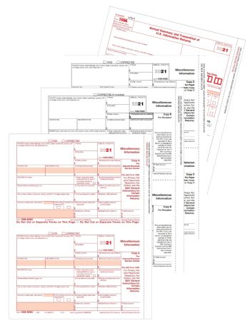 1099-MISC Tax Forms Set 3-, 4-, 5-part Official 1099 Forms for Miscellaneous Income Reporting - DiscountTaxForms.com