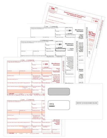 1099-MISC Tax Forms Envelopes Set 3-, 4-, 5-part Official 1099 Forms for Miscellaneous Income Reporting - DiscountTaxForms.com