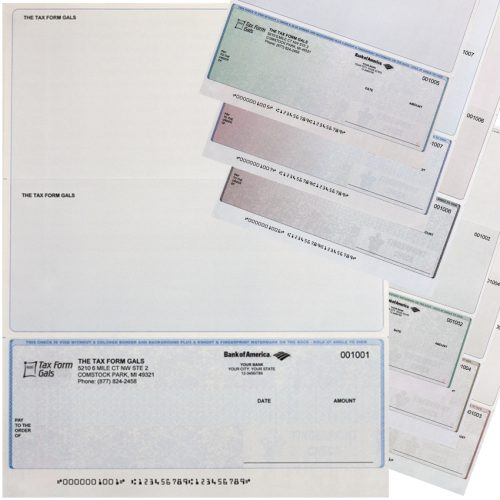 Business Checks at Bottom Position, with Logos and High-Security Features at Low Prices - DiscountTaxForms.com