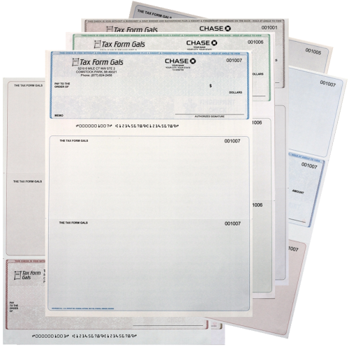 Printed Business Checks with Logos at Discounted Prices Everyday! DiscountTaxForms.com