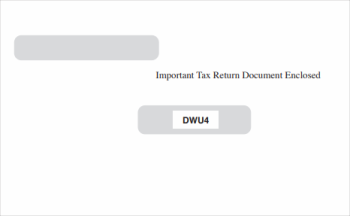 Universal 1099 & W2 Envelopes for 5-part blank perforated, universal forms - DiscountTaxForms.com
