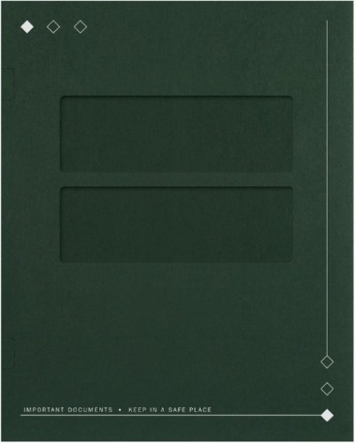 40GN Tax Return Folder with Diamond Design and Double Windows. Side Staple Tabs make securing documents easy! DiscountTaxForms.com