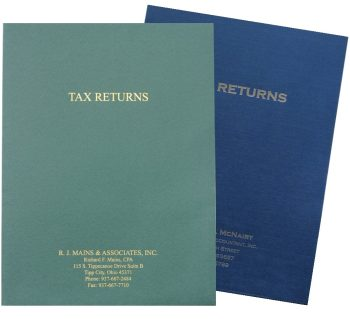 Expanding Pocket Tax Return Folders with Foil Stamping - Personalize With Logos and More - DiscountTaxForms.com