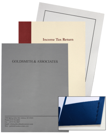 Customized Expanding Tax Return Folders with Logos and More in Many Styles - Discount Tax Forms
