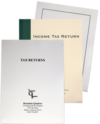 Custom Printed Tax Folders with Logos and More in Many Colors of Ink and Paper - Discount Tax Forms