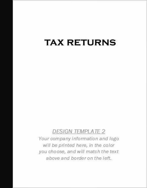 Custom Tax Folder Design Template 2 - DiscountTaxForms.com