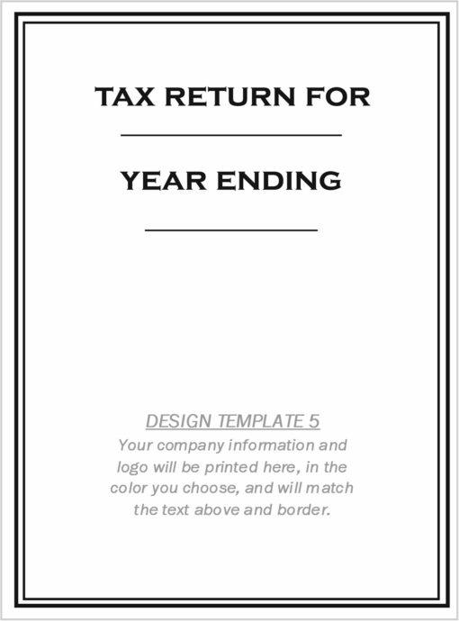 Custom Tax Folder Design Template 5 - DiscountTaxForms.com