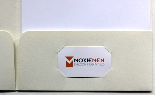 Customized Tax Folders with 2 Pockets, Unattached, with Business Card Die Cuts on Right - DiscountTaxForms.com