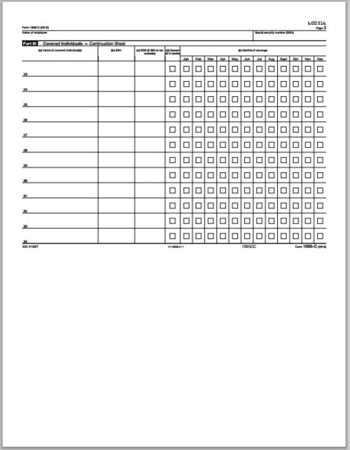 1095C Continuation Form for ACA Reporting with ComplyRight Software - DiscountTaxForms.com