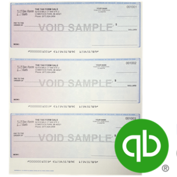 3up Checks for QuickBooks with Logos, Compatibility Guaranteed! - DiscountTaxForms.com